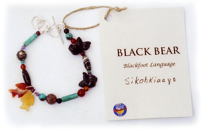 Glacier Park Jewelry Bracelet - Black Bear