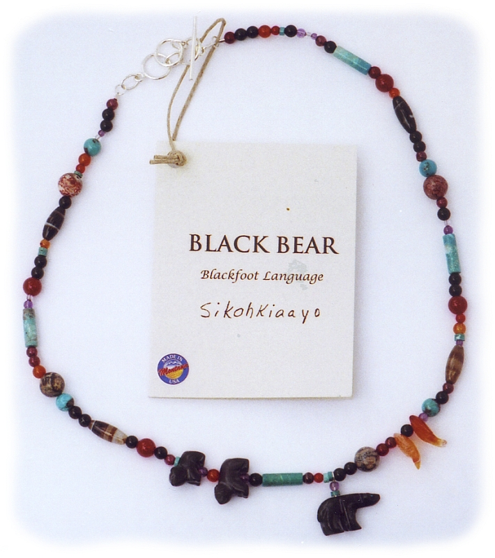 Glacier Park Jewelry Necklace - Black Bear