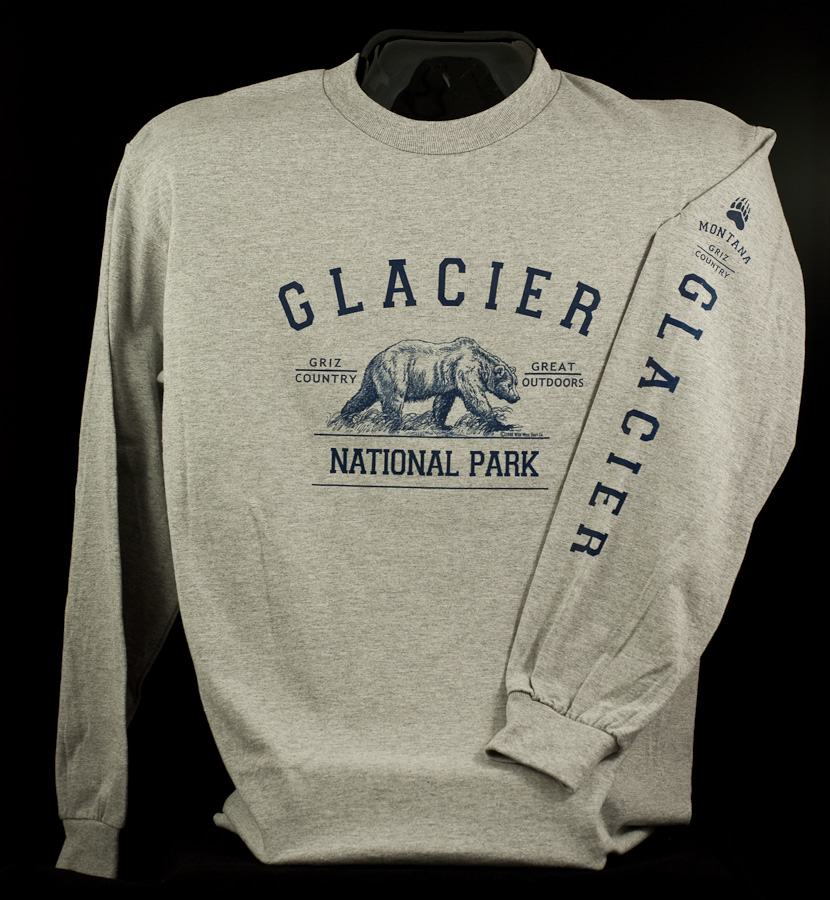 Youth Long Sleeve T-Shirt Glacier Arch Griz