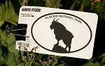 Glacier National Park Sticker with Mountain Goat