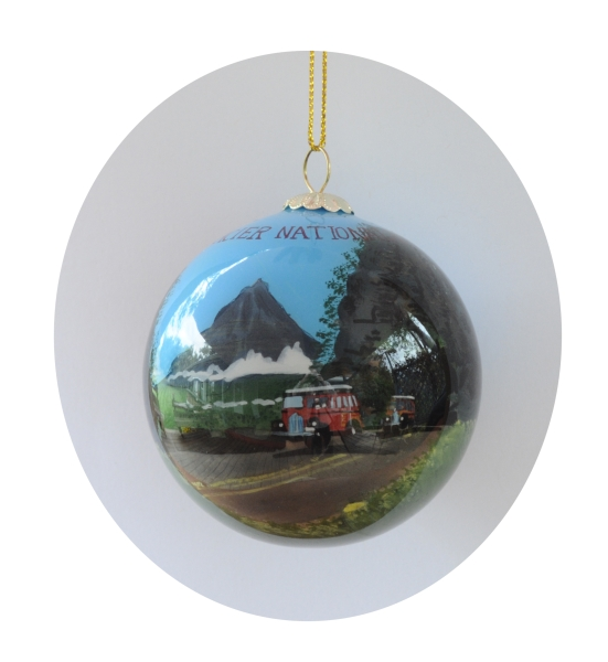 Red Bus in Tunnel Ornament