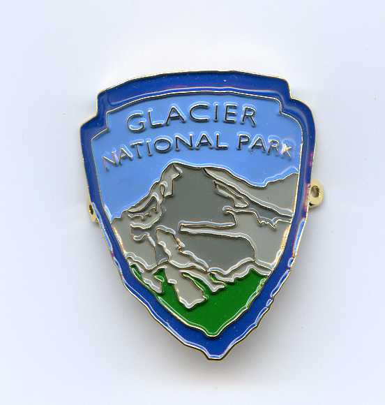 Glacier Walking Stick Medallion - Shield