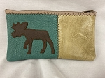 Moose Zip Leather Pouch