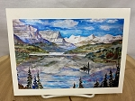 Notecard By local Artist Barbara Candelaria - St Mary Lake
