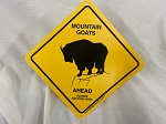 Mountain Goats Ahead Sign