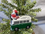 Mr. and Mrs. Claus on VW Bus Ornament