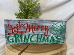 Merry Grinchmas Wooden Sign