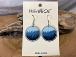 Nature Cast Earrings - Foggy Trees on Disc