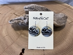 Nature cast Earrings - Dangle Mountains on Disc