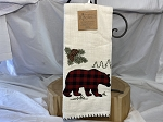 Bear Applique Tea Towel