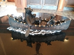 Bears In Canoe Sculpture