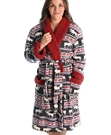 Moose Fair Isle Bath Robe