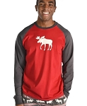 Moose Fair Isle PJ Long-Sleeve Shirt