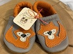 Starry Knight Designs Leather baby Moccasins with Fox